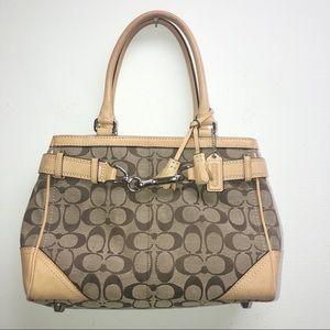 coach signature c khaki purse
